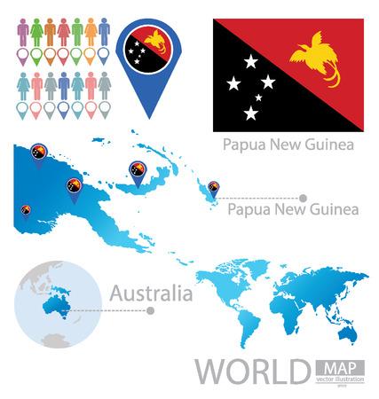 papouasie: �tat ind�pendant de Papouasie-Nouvelle-Guin�e vecteur Illustration