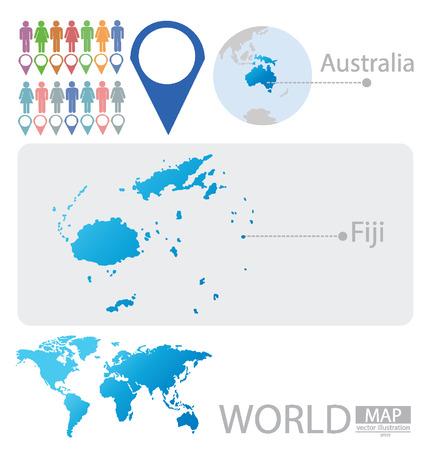 fiji: Republiek Fiji vectorIllustratie