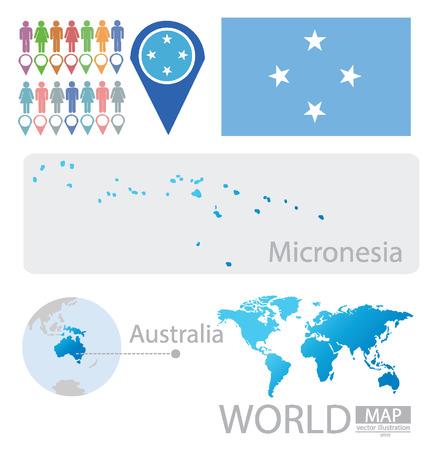 micronesia: Federated States of Micronesia vector Illustration Illustration