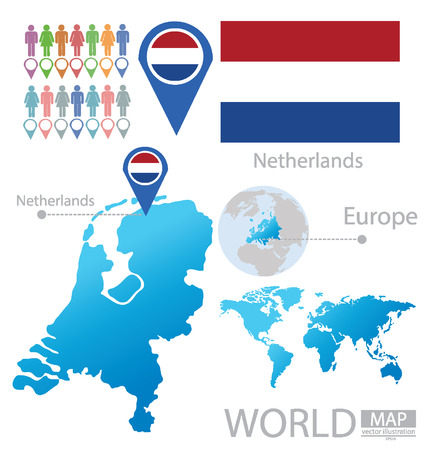 Netherlands vector Illustration Vector