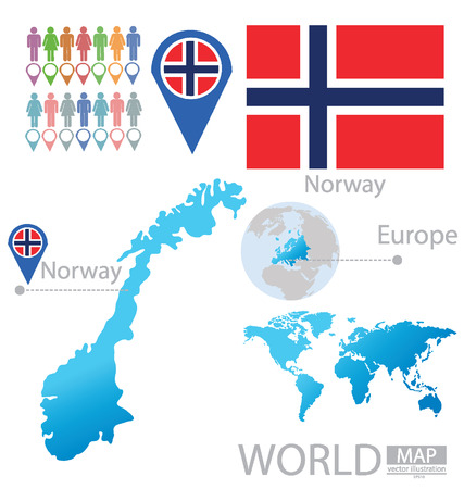 Kingdom of Norway vector Illustration Vector