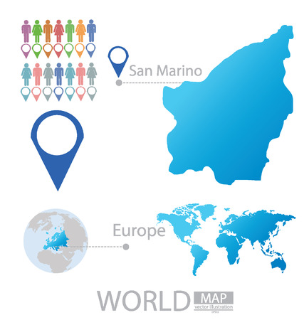 san marino: San Marino vector Illustration