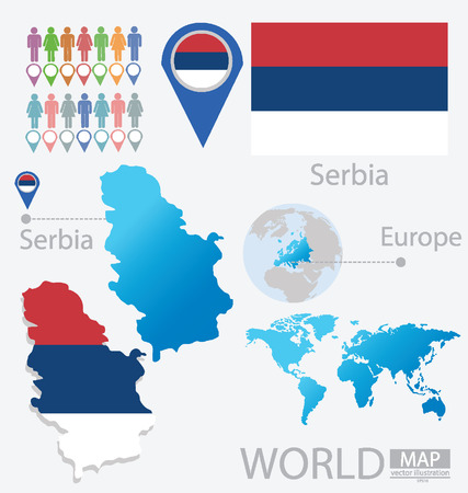Republic of Serbia vector Illustration Illustration