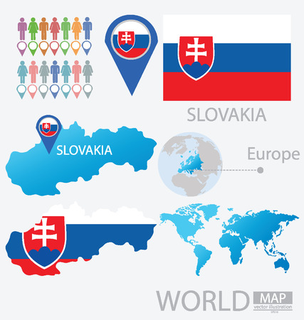 Slovakia vector Illustration Vector