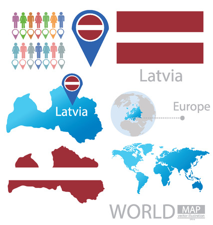 Republic of Latvia vector Illustration Vector