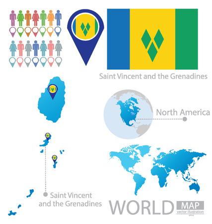 grenadines: Saint Vincent and the Grenadines vector Illustration Illustration