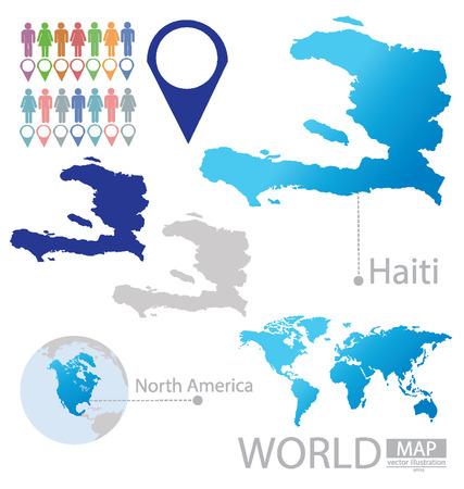 port au prince: Rep�blica de Hait� vector Ilustraci�n
