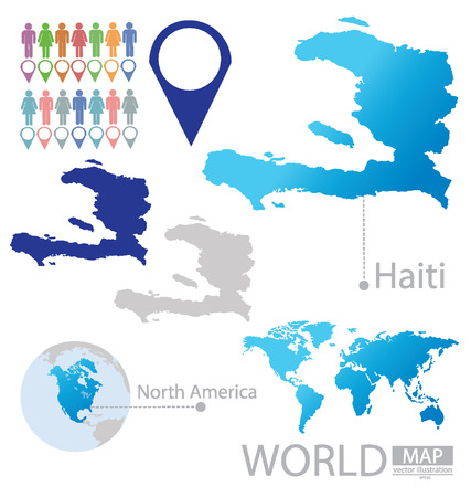 Republic of Haiti vector Illustration
