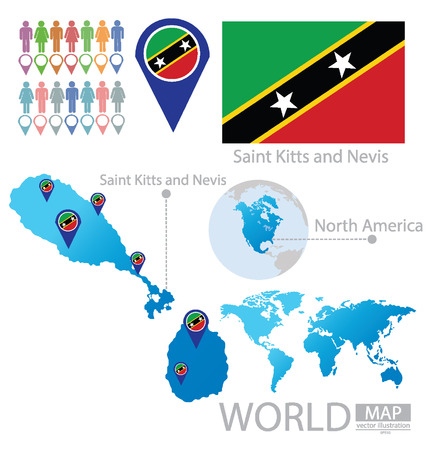 federation: Federation of Saint Kitts and Nevis vector Illustration Illustration