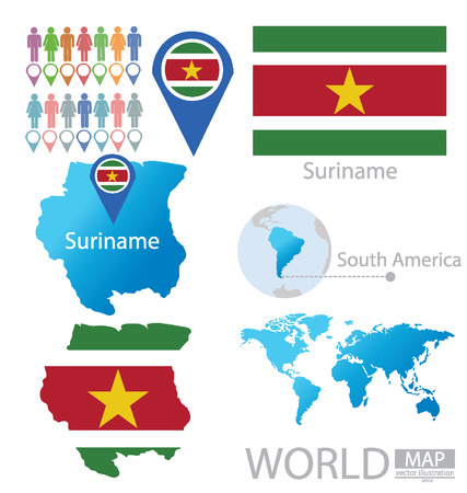 suriname: Suriname vector Illustration