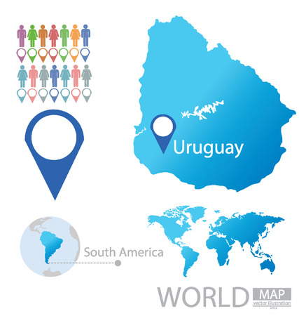 uruguay: Uruguay vector Illustration