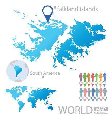 falkland: Falkland Islands vector Illustration