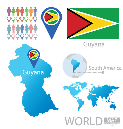 Guyana vector Illustration Stock Vector - 24895777