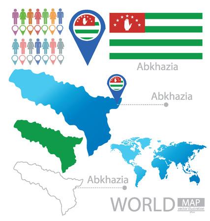 abkhazia: Republic of Abkhazia vector Illustration