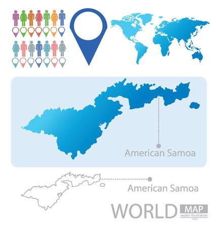 samoa: American Samoa vector Illustration Illustration