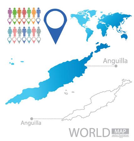 anguilla: Anguilla vector Illustration Illustration