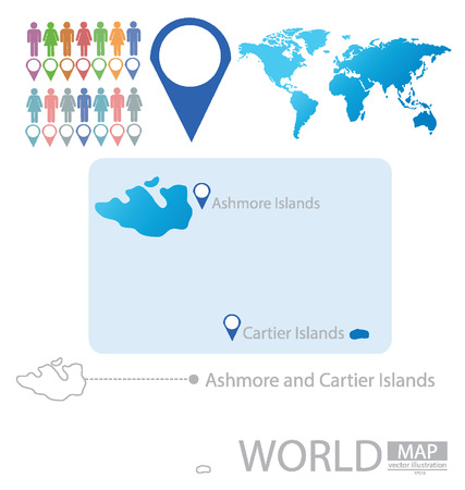 Ashmore and Cartier Islands vector Illustration Vector
