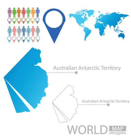 antarctic: Australian Antarctic Territory vector Illustration