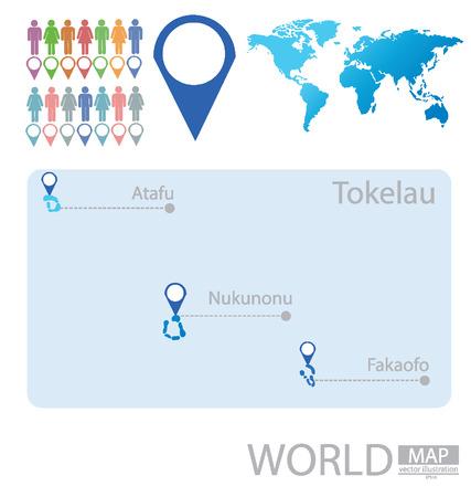 tokelau: Tokelau vector Illustration Illustration