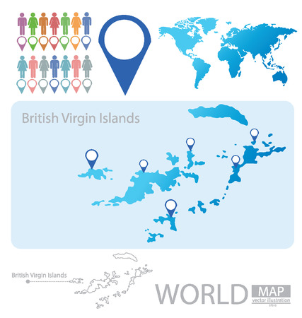 British Virgin Islands vector Illustration Vector