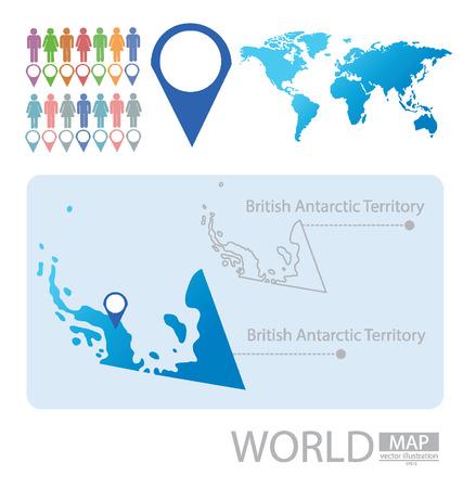 antarctic: British Antarctic Territory vector Illustration Illustration