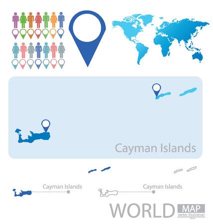 cayman islands: Cayman Islands vector Illustration