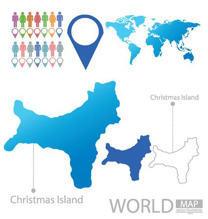 Christmas Island vector Illustration Vector