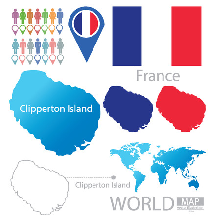 Clipperton Island vector Illustration Vector