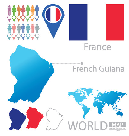 French Guiana vector Illustration Vector