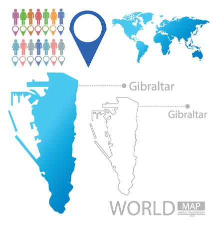 gibraltar: Gibraltar vector Illustration Illustration