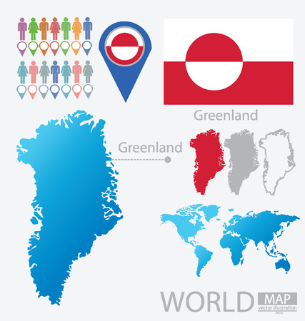 Greenland vector Illustration Vector