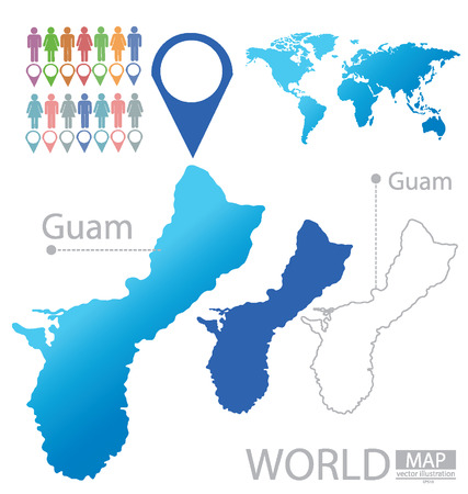 guam: Guam vector Illustration