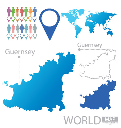 guernsey: Guernsey vector Illustration