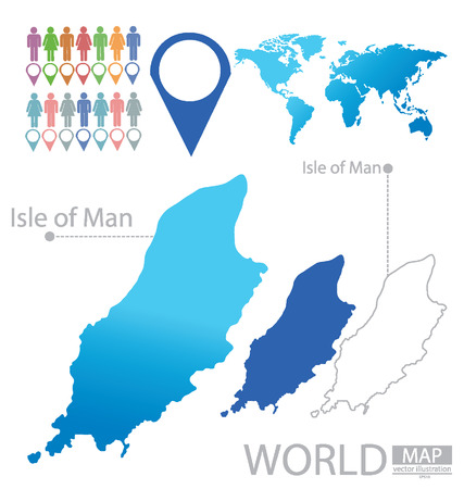 british isles: Isle of Man vector Illustration Illustration