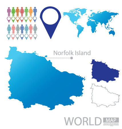 kingston: Norfolk Island vector Illustration Illustration