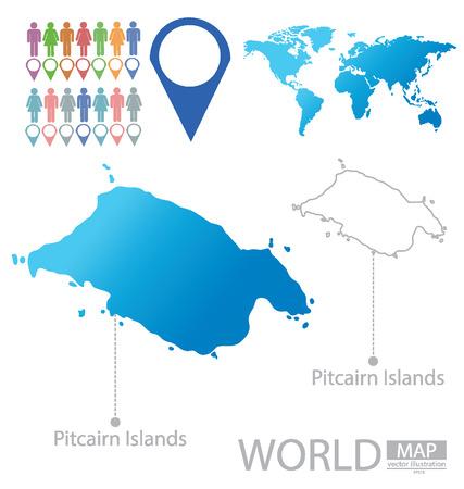 pitcairn: Pitcairn Islands vector Illustration Illustration