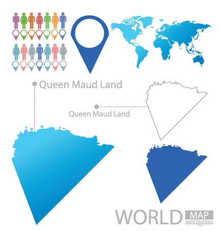 land mark: Queen Maud Land vector Illustration Illustration