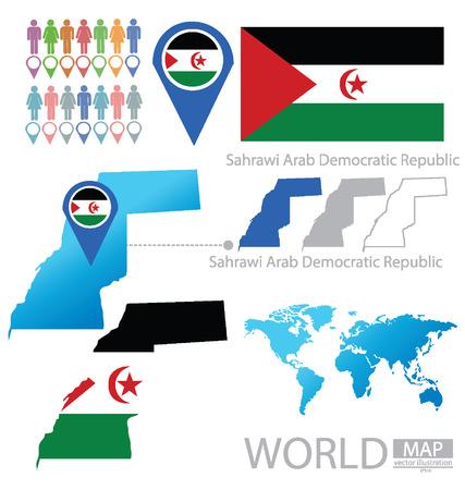 sahrawi arab democratic republic: Sahrawi Arab Democratic Republic vector Illustration Illustration