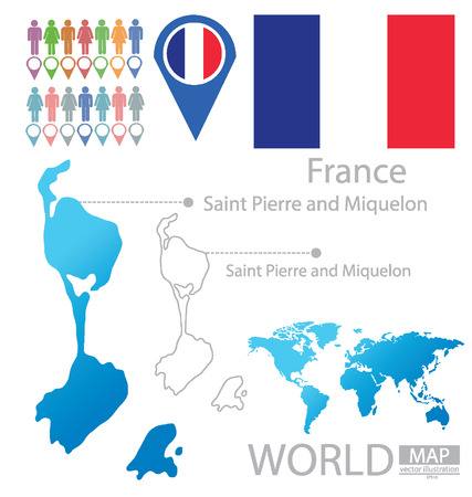 Saint Pierre and Miquelon vector Illustration Vector