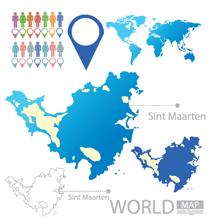 sint: Sint Maarten vector Illustration Illustration