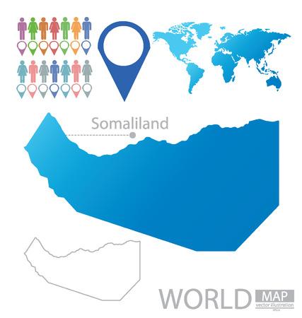 somaliland: Republic of Somaliland vector Illustration