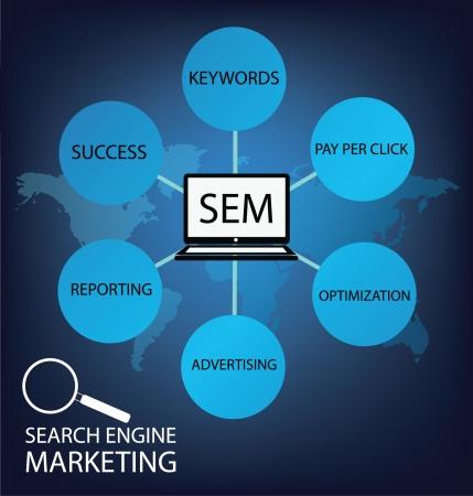 html5: search engine marketing vector Illustration Illustration