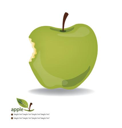 apple bite: Apple vector illustration Illustration