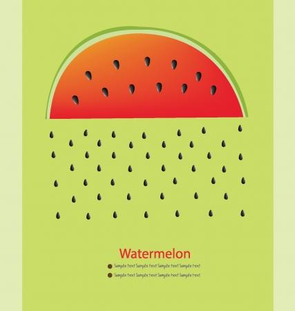rind: Watermelon rain vector illustration Illustration