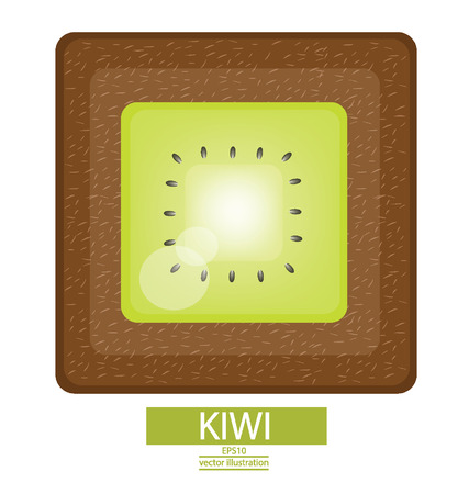 garden stuff: Kiwi fruits vector illustration Illustration