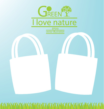 Bags, Go green, Save world vector illustration Vector