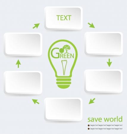 buisiness: Go green, Design Template vector illustration