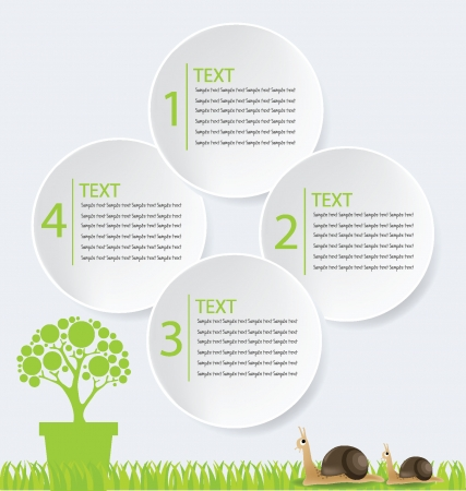 Go green, Design Template vector illustration