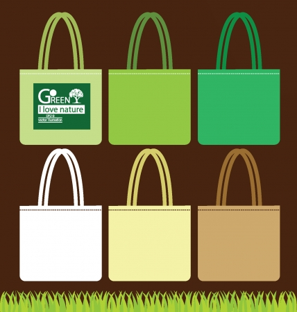 Bags, Go green concept vector illustration Stock Vector - 24924495