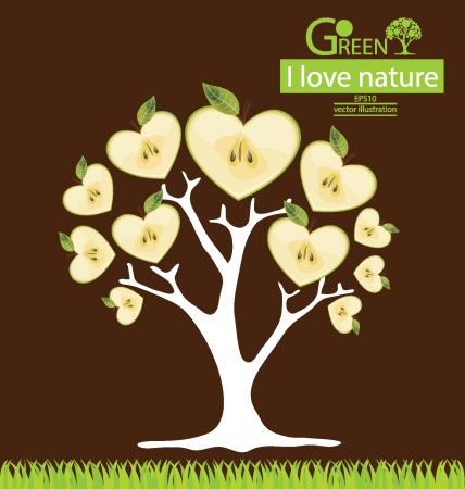 Apple tree vector illustration Vector